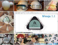 Projekt etykiety starego kasku typu Orzeszek