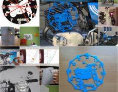 Projekt zegara motocyklowego na ścianę, biurko MZ ETZ 250