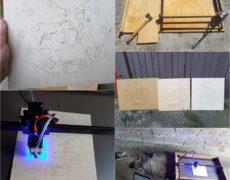 I projekt laserowy. Początek. Zegar motocyklowy MZ ETZ 250