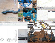 II projekt laserowy. Wstępny projekt podstawki pod zegar