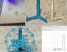 II projekt laserowy – podstawka pod zegar MZ ETZ 250