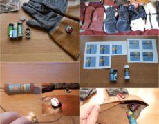 Renowacja starych rękawic motocyklowych z kierunkowskazami